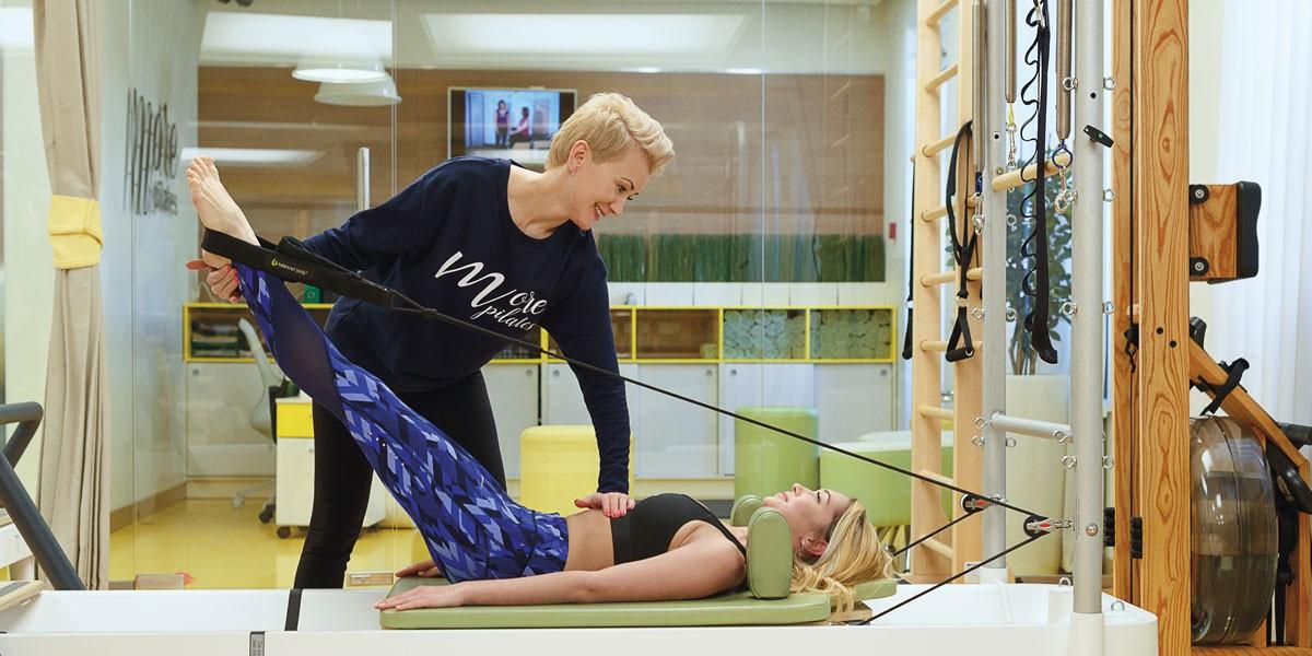 Персональные тренировки в студии MORE Pilates